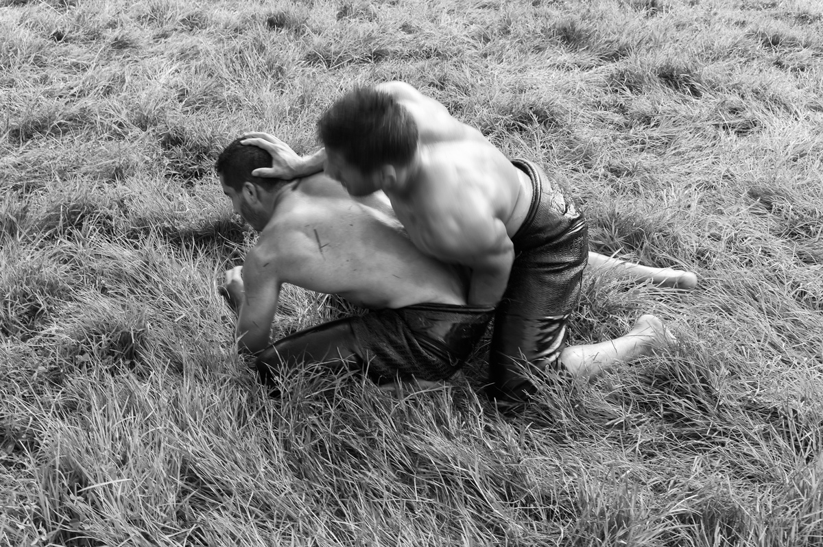 Kirkpinar - oil wrestlers - photo by Tony Melvin