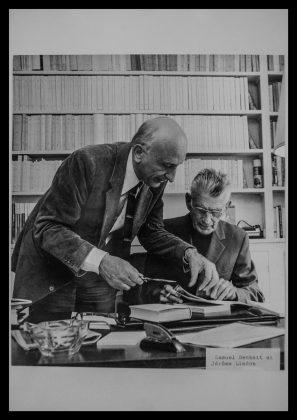 Samuel Beckett și Jérôme Lindon foto autor Louis Monier