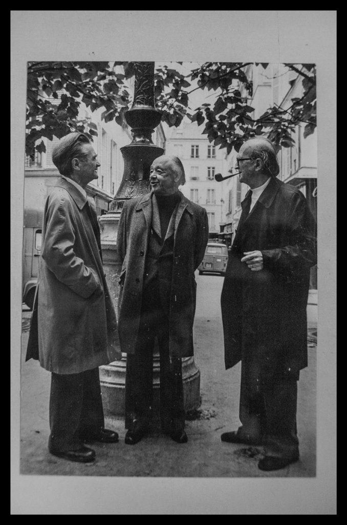 Ionesco Cioran Eliade fotografiați de Monier
