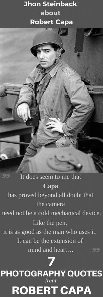 7 citate celebre ale lui Robert Capa