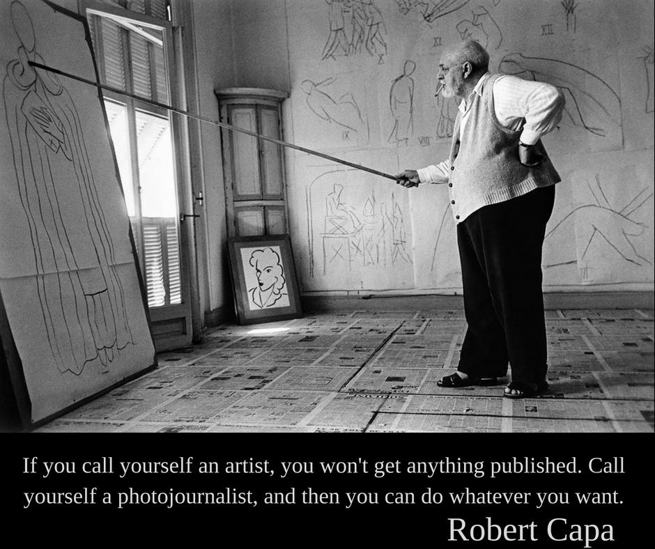 Robert Capa | Dacă te declari artist atunci nu vei publica nimic. Declară-te fotojurnalist și poți face orice dorești.