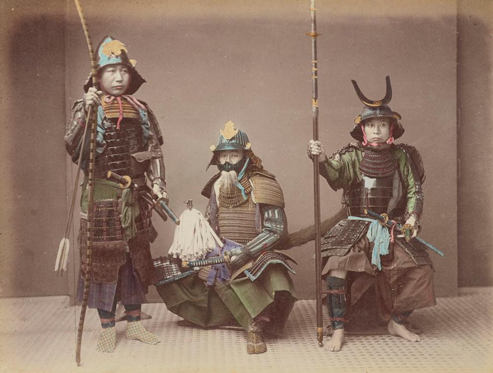 Kusakabe Kimbei - Samurai în armură