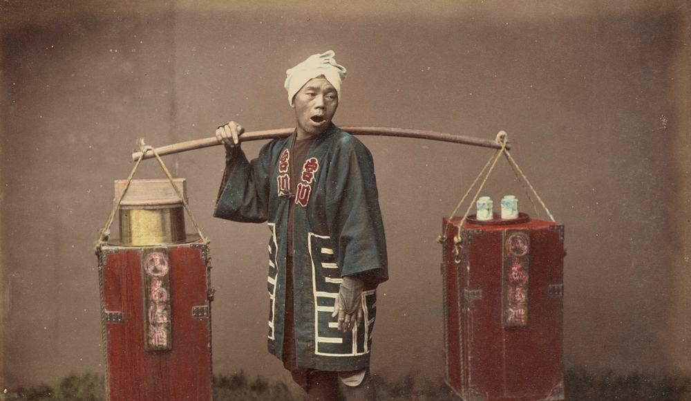 Kusakabe Kimbei Vânzător stradal de sake