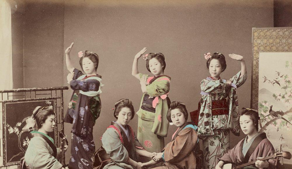 Kusakabe Kimbei Grup de femei tinere