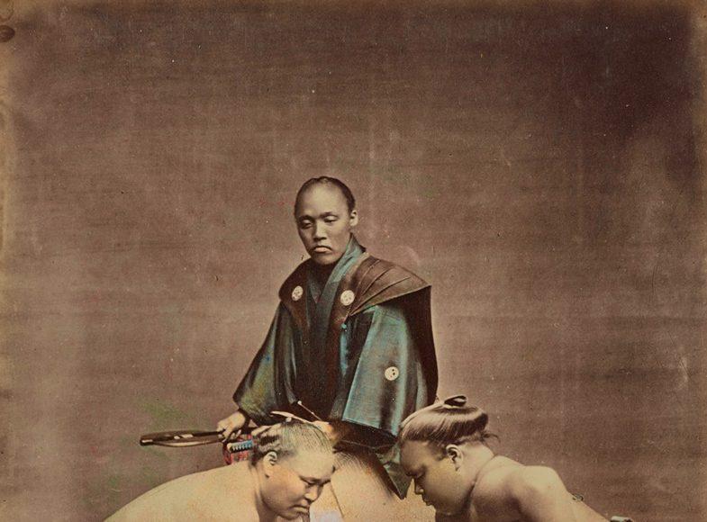 Kusakabe Kimbei Luptători sumo