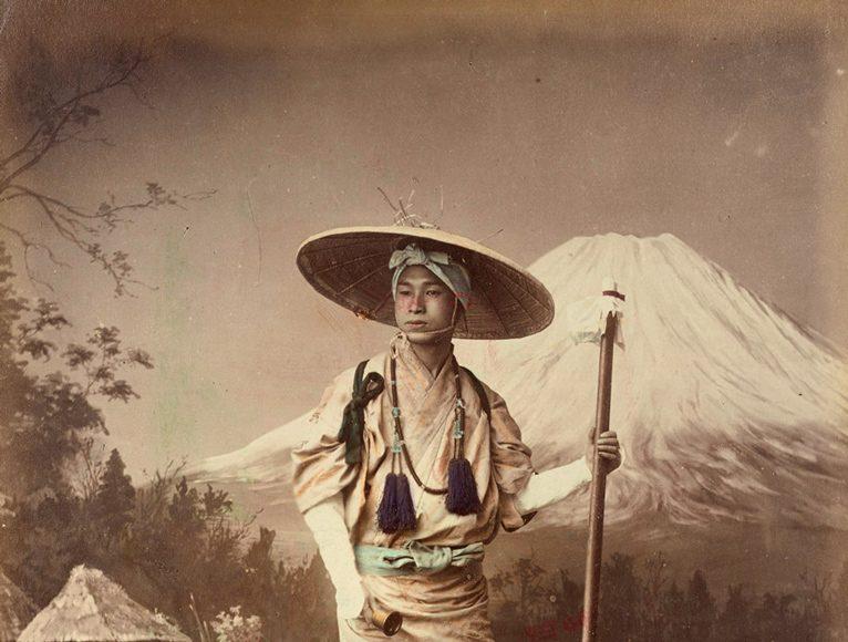Kusakabe Kimbei Pelerin în Fujiyama