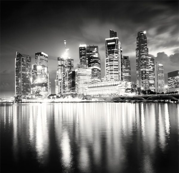 Martin Stavars Singapore Night Skyline 2010