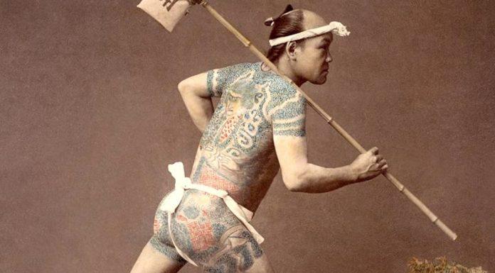 Kusakabe Kimbei Tatooed messenger